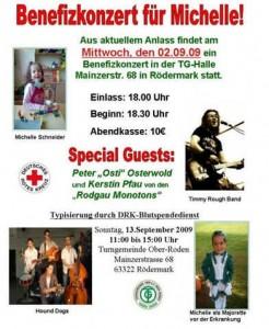 Benefizkonzert, 02.09.2009, für Michelle. Rödermark-Ober-Roden, TG-Halle.