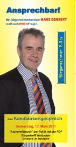 Kandidatengespräch. Hans Gensert FDP 10.03.2011