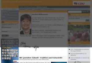 Webseite der CDU mit Trauerflor (31.03.2011 23.00 h)