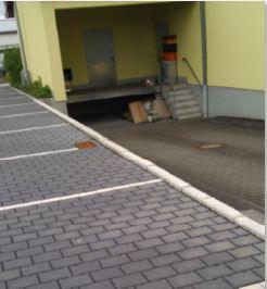 Parken in der Odenwaldstrasse beim Netto