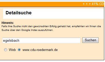 CDU und Egelsbach