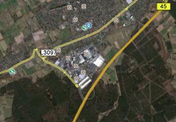 Quelle Google Earth. Vermutlicher Standort Kloster Rothaha