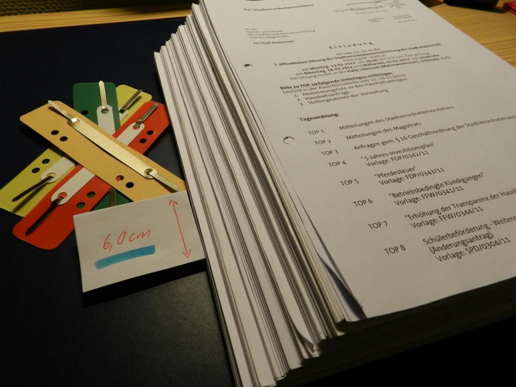 STAVO Unterlagen für der Haushalt 2012