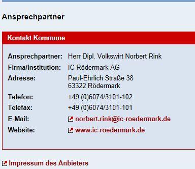 Gewerbeentwicklung. Norbert Rink beim IC-Rödermark (31.03.2012)