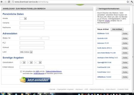 Bild 2. Webseite MIT Preishinweis bei 1024 x 768 (26.05.2012)