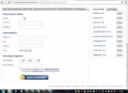 Umleitung von Suchmaschine. NACH DEM SCROLLEN. Webseite mit Preishinweis. Bildschirm 1024 x 768 (26.05.2012)