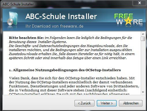 Freeware mit AGB und Nutzungsbedingung