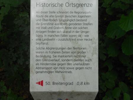 Historische Ortsgrenze. Ober-Roden - Jügesheim