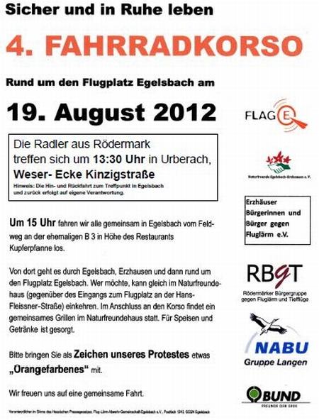 RBgT Rödermark. Farhrradkorso nach Egelsbach
