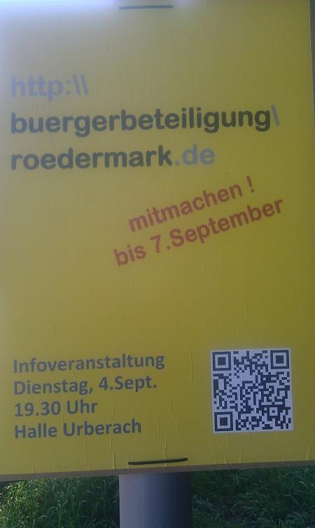 Rödermark. Bürgerbefragung 2012 zum Haushalt 2013. Wir machen mit. Jeden Tag mindestens einmal.