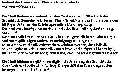 Caritas. Ober-Rodener Str. 18 in Urberach. Punkt 7