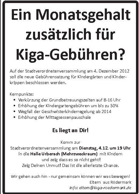 Protestaufruf KiGa Rödermark