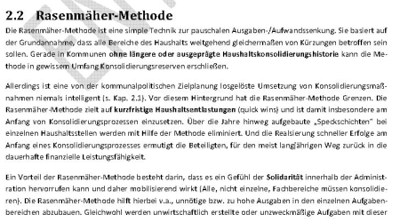 Rasenmähermethode. Seite 6. Punkt 2.2