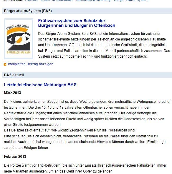 Bürger-Frühwarn-System Offenbach