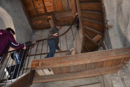 Treppenhaus im Kirchturm
