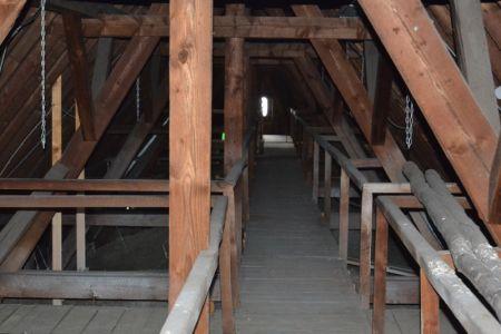 Im Dachgewölbe der Kirche.