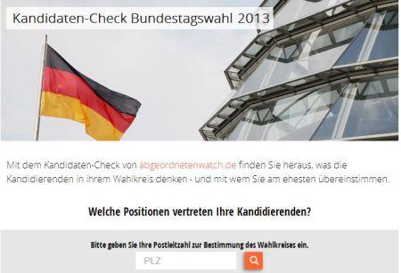 Bundestagswahl 2013. Kandidatencheck