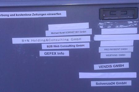 Ein Briefkasten am 24.10.2013 im Rodgau