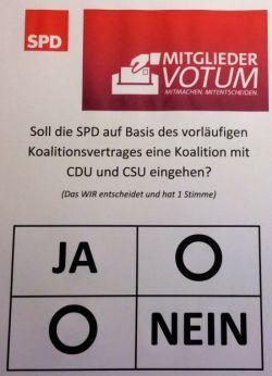 SPD. Mitgliedervotum