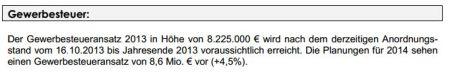 Gewerbesteuer in 2014