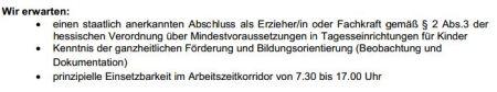 Erzieher S8. Dietzenbach