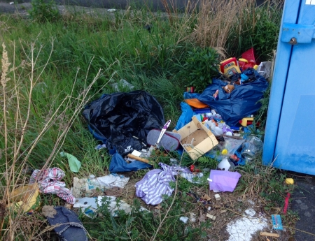 Rödermark. Müllentsorgung in der Odenwaldtsrasse