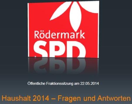 SPD-Rödermark erklärt den Haushalt