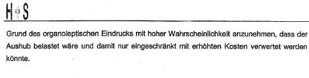 Bodenbelastung Bahnhof Ober-Roden. Ergebnisbericht Seite 7+8
