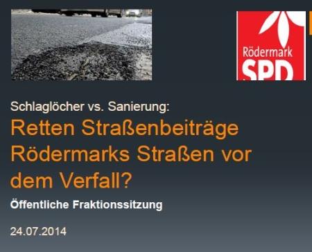SPD-Präsentation zum Strassenbeitrag