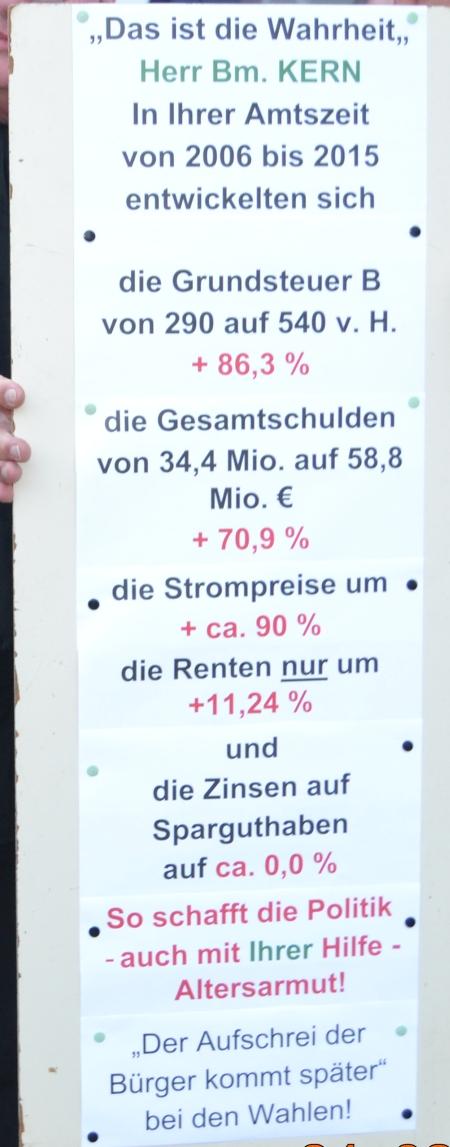 Demonstration in Rödermark gegen den Doppelhaushalt. 24.03.2015