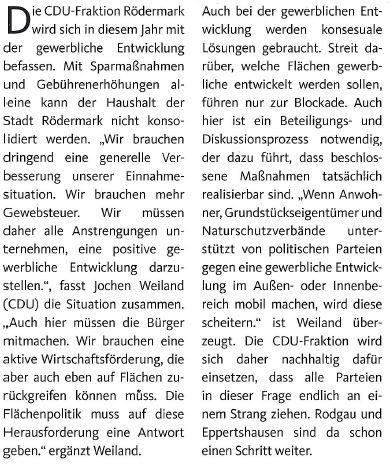 CDU-Rödermark Gewerbegebiete.