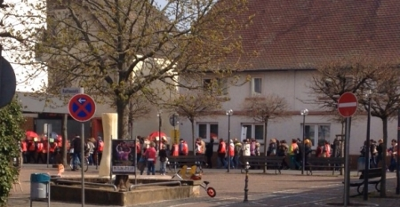 Demo der Erzeiherinnen. 08.04.2015