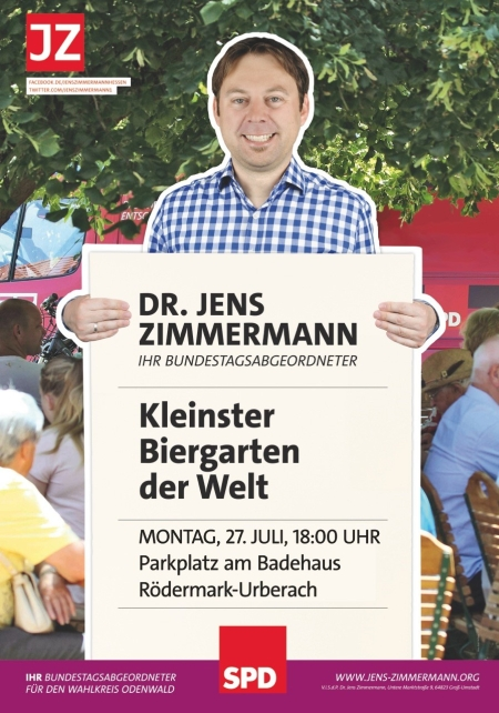 SPD-Rödermark. Der kleinste Biergarten der Welt.