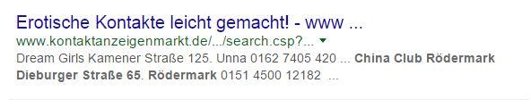 Suchergebnis Google