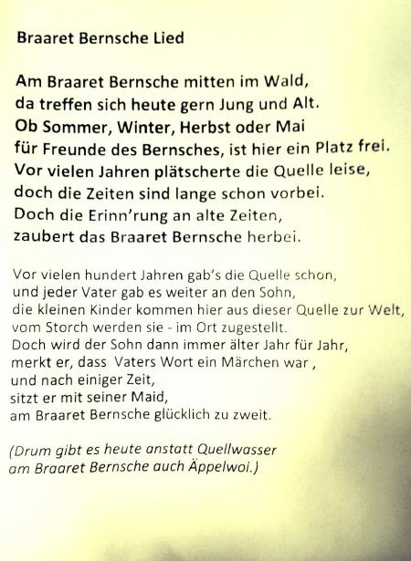 Braaret Bernsche Lied