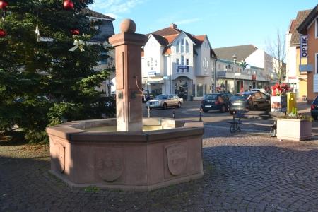 Rödermark. Brunnen Marktplatz