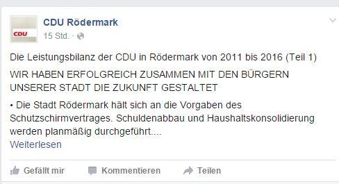 CDU zusammen mit den Bürgern.