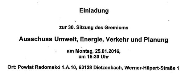 Einladung Kreistagssitungen ab 25.01.2015