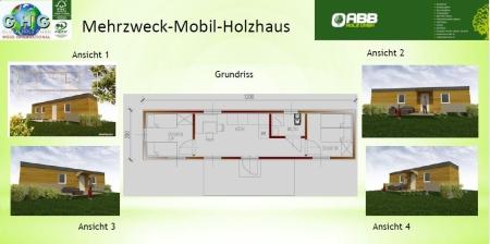 Holzhaus für Flüchtlinge.