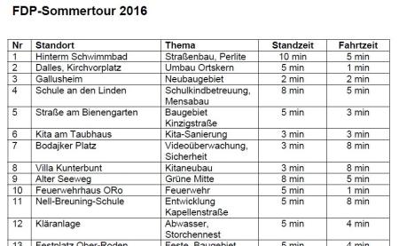 FDP-Sommertour Plan