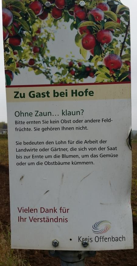 Essbare Stadt. Nähe Germania Ober-Roden.