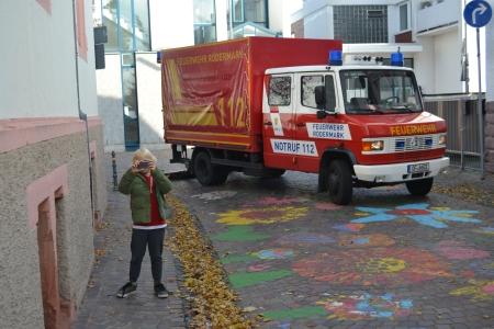 Feuerwehr Ober-Roden bei einer Übung.