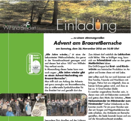 Advent im Breidert
