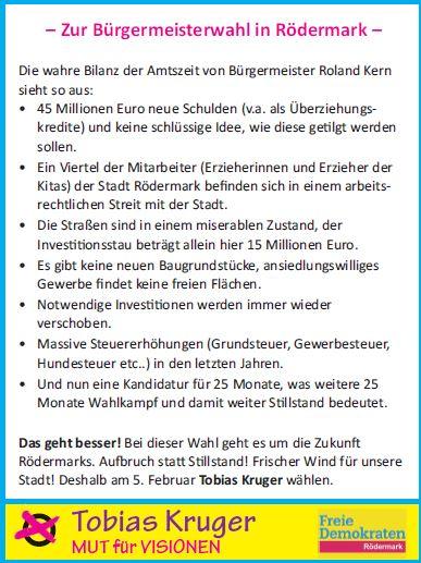 Fakten zu Roedermark aus Sicht der FDP