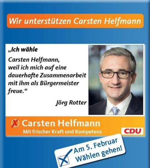 Rotter wählt Carsten Helfmann.