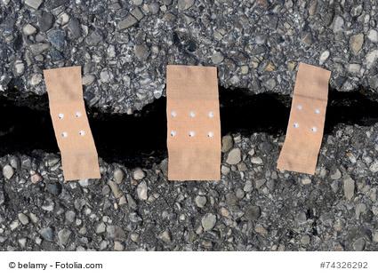 Rödermark. Straßen-Sanierung
