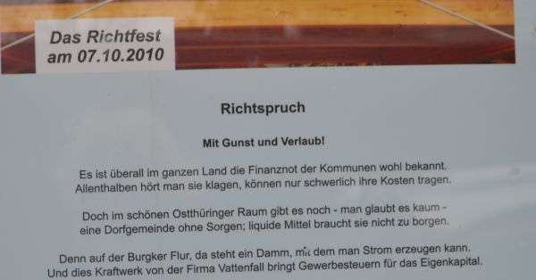 Richtfest in Burgk