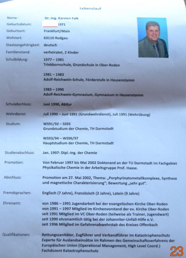 Bürgermeisterkandidat Karsten Falk. Parteilos