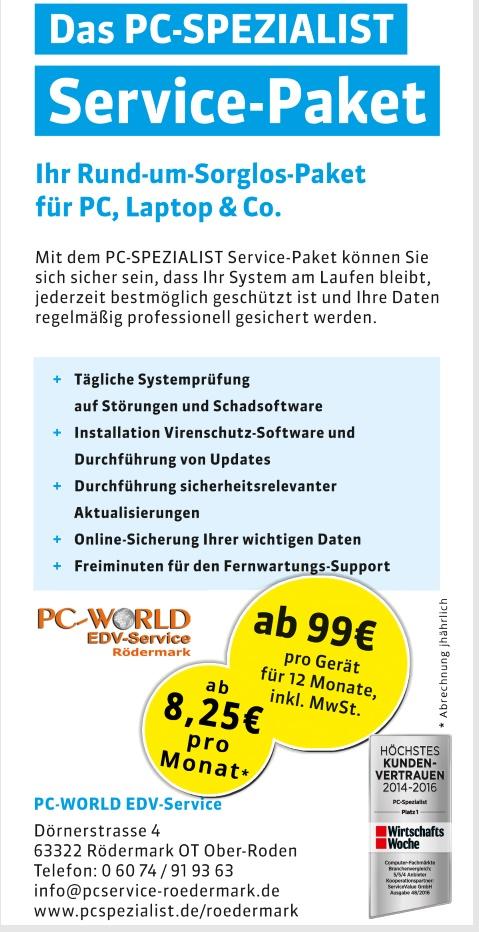 PC Spezialist in Ober-Roden. Rosenblatt