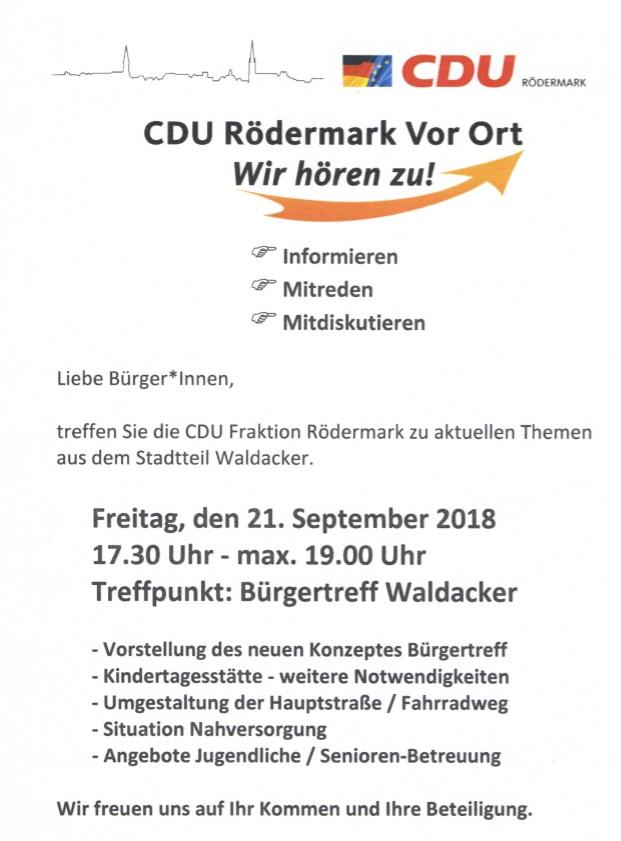 CDU vor Ort